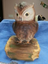 Gorham Owl Music Box - Beautiful Dreamer