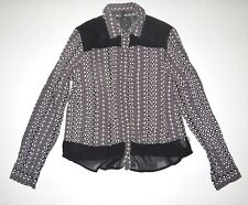 3f5f0a68e80 New Vans Womens Double Down Rayon Sheer Fashion Button Up Woven Shirt Top  Blouse