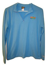Woman's Base Layer IRONMAN TRIATHLON Blue Long Sleeve Shirt Top 1/2 Zip size XL