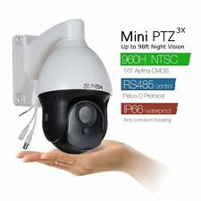 3X Optical Zoom 700 TVL  960H Mini Analog PTZ Security Camera IR