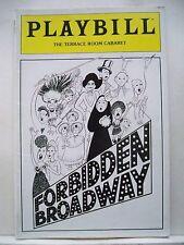 FORBIDDEN BROADWAY Playbill TONI DiBUONO / KAREN MURPHY / CRAIG WELLS Boston `85