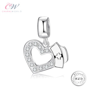 Silver Nurse Charm Genuine 925 Sterling Silver 💞 Gift Nurse/ NHS / Care Worker