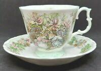 Royal Doulton Teacup & Saucer, SUMMER Brambly Hedge Collection Jill Barklem 1983