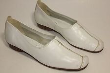 Ambition womens white leather flat shoes uk 7 eu 40