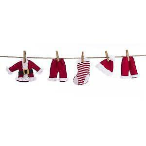 Cloth Santa Suit Novelty Garland w