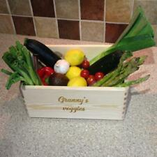 Personalised Vegetable Crate - Fruit and Veg Box Crate- Wooden Box with handles