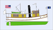 PAMELA DEARE, Ausflugsschiff. Oregon River, USA. Modellbauplan 1:66