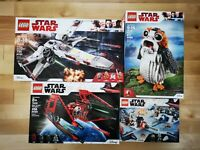 Lot#17 4 SETS LEGO Star Wars 75218 75240 75230 75239 X-wing StarFighter Porg