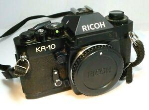 Ricoh KR-10 35mm SLR Film Camera Body Only - tested works good PK K mount