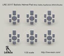Live Resin 1/35 LRE-35117 Ballistic Helmet Pad Mine Safety Appllianse MSA/Skydex