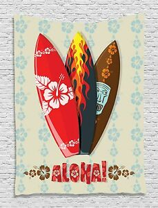 Hawaii Surfboards Flowers Tapestry Wall Hanging for Living Room Bedroom Dorm