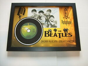 THE BEATLES   SIGNED MINI LP DISC