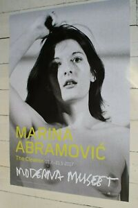MARINA ABRAMOVIC - 2017 STOCKHOLM EXHIBITION POSTER - THE CLEANER - NUDE ART