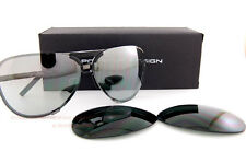 New Porsche Design Sunglasses P8678 8678 A Gunmetal  Interchangeable Lenses 67