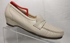 Sas Tripad Comfort Beige Leather Moc Toe Slip On Loafer Casual Shoes Womens 10 N