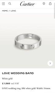 Cartier Wedding Band White Gold