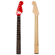 Electric Guitar Neck 22 Fret Maple for Parts Replacement Gloss Red
