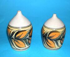 Pru Green Alvingham Studio Pottery - Attractive Vintage Pair Salt & Pepper Pots.