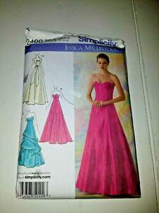 Simplicity 2400 Jessica McClintock Dress Gown Formal Pattern size D5 4-12