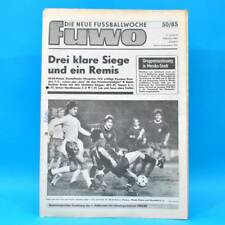 DDR FuWo 50/1985 Pokal: FCK-Dresden 2:0 BFC-Hansa 5:1 Lok-Jena 0:0 WM-Quali B