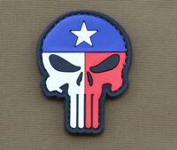 "PVC / Rubber Patch ""Texas Flag Punisher"" with VELCRO® brand hook"