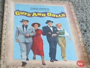 1955 GUYS AND DOLLS souvenir program. Frank Sinatra, Marlon Brando. Color photos