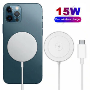 Magnet Phone Charger 15W Fast Wireless Charging Pad For Apple iPhone 12 Pro Max