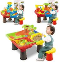 Plastic Kids Outdoor Sand and Water Table Play Set Toys Beach Sandpit Summer Kit