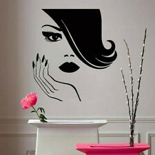Autocollant Mural Vinyle Décalque Art Beauty Salon Coiffeurs Cils lèvres ongles ...