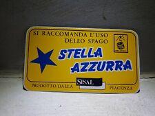 ADESIVO ' STELLA AZZURRA - SISAL - PIACENZA ' 18x10 CM VINTAGE