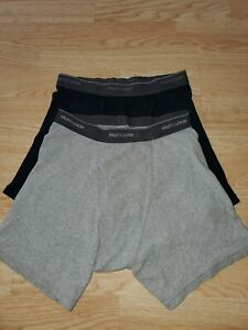 2 Fruit of the Loom Boys size Large Boxers  Grey and Black