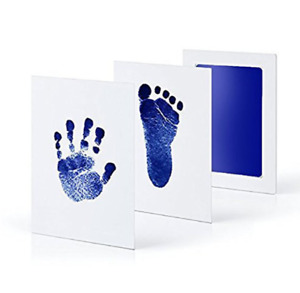 Safe Non-toxic Baby Footprints Handprint No Touch Skin Inkless Ink Pads Kits for