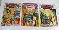 World's Finest 3 issue lot #190, 192, 193 - Superman Batman DC comics