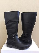 UGG EVANNA BLACK LEATHER RIDING WATER RESISTANT BOOT US 9.5 / EU 40.5 / UK 8 NIB