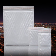 10Pcs  White Poly Bubble Mailers Padded Envelopes Shipping Bags Self Seal Bag