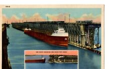 Postcard MN Lake Superior Loading Iron Ore  C.T. Art Colortone MN1