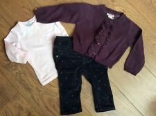 Baby Girls 3-6 Months Gap Trouser Monsoon Cardigan Target Top  Outfit