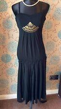 KAREN MILLEN Black Dropped Waist Flapper Party Dress - Size 12