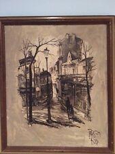Vintage Paris Rodica Iliesco Oil Painting Canvas RODY Listed Artist 1971