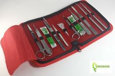 Dissecting Dissection Kit Set Tools Frog College Biology Student Lab Red Case