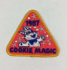 Vtg Girl Scout Patch Badge - 1987 Cookie Magic - Triangle Shaped