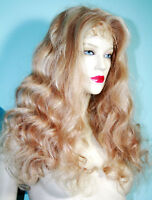 Remi Remy Full Lace Wig Wigs Indian Human Hair Blonde Mix Long Body Wave Wavy
