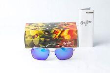 Maui Jim Cook Pines Silver Frame/Blue Hawaii Lens Polarized Sunglasses B774-17