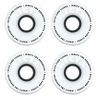 Ricta Skateboard Wheels 54mm CLOUDS 92A White/Black Soft Cruiser