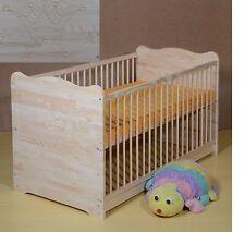 Gitterbett Babybett Set Komplett Juniorbett Umbaubar Matratze70x140 Massiv KRONE
