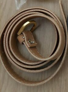 Popsy Clothing Accessory Womens Skinny Dress Leather Tan Belt Size 12