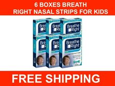 NEW 6X Nasal Strips BREATH RIGHT Kids Sleep Reduce Snoring DRUG FREE SHIPPING