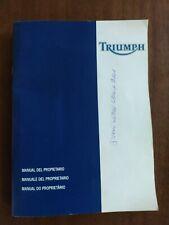 Manuale del Proprietario Originale Triumph Bonneville-Manutenzione/Regolazione