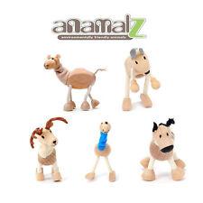 Zebra-Kangaroo-Camel-Deer-Ostrich All Natural Anamalz Toy Farm Animals 5PCS  New