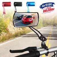 Bicycle Bike Cycling Handlebar Rear View Rearview Mirror Rectangular 1 Pair